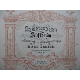 HAYDN Joseph Symphonien Band III & IV Piano 4 mains XIXe