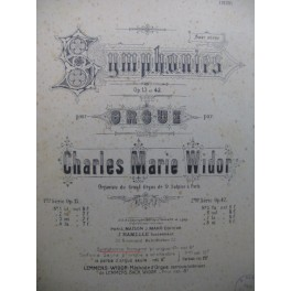 WIDOR Ch. M. Symphonie Romane op 73 Orgue 1930