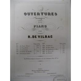 DE VILBAC Renaud Ouverture d'Euriante piano 4 mains 1859