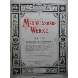 MENDELSSOHN Trio No 1 Piano Violon Violoncelle XIXe