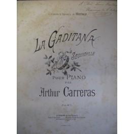 CARRERAS Arthur La Gaditana piano 1890