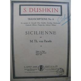 VON PARADIS Maria-Theresia Sicilienne Violon Piano