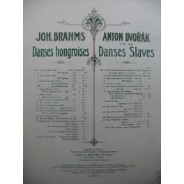 DVORAK Anton Danses Slaves op 46 No 1 Piano Violon Violoncelle ca1905