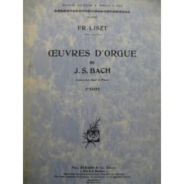 LISZT Franz Oeuvres d'Orgue de J. S. Bach 1ère suite Piano 1949