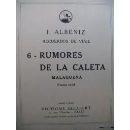 ALBENIZ Isaac Recuerdos De Viaje Piano 1929