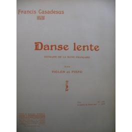 CASADESUS Francis Danse Lente Violon Piano 1912