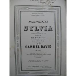 DAVID Samuel Mademoiselle Sylvia Opéra Dédicace 1868
