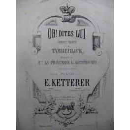 KETTERER Eugène Romance Russe Favorite de Tamberlick Piano XIXe siècle