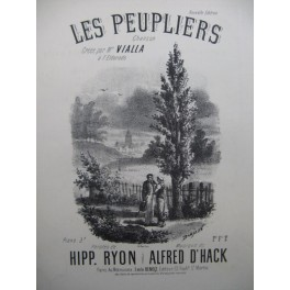 D'HACK Alfred Les Peupliers Chant Piano XIXe