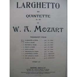 MOZART W. A. Larghetto Quintette op 108 Piano Clarinette