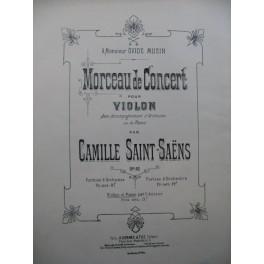 SAINT-SAËNS Camilles Morceau de Concert op 62 Piano Violon ca1900