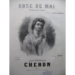 CHERON Rose de Mai Piano XIXe siècle