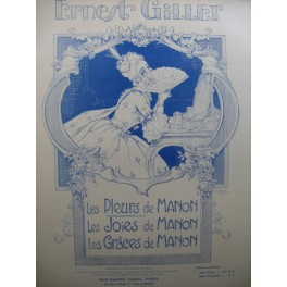 GILLET Ernest Les Pleurs de Manon Piano