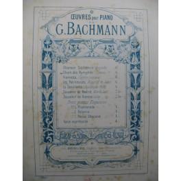 BACHMANN Georges Chant des Nymphes Piano XIXe siècle