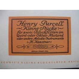PURCELL Henry Kleine Stücke pour 2 Flûtes à bec