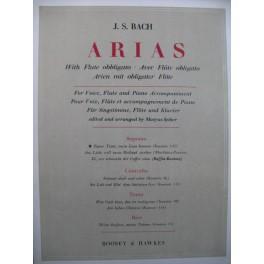 BACH J. S. Aria Cantate 151 Piano Chant Flûte