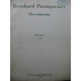 PAUMGARTNER Bernhard Divertimento Orchestre