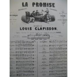 CLAPISSON Louis La Promise No 16 Chant Piano XIXe