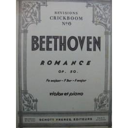 BEETHOVEN Romance op 50 Violon Piano