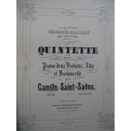 SAINT-SAËNS Camille Quintette op 14 Piano Violons Alto Violoncelle XIXe
