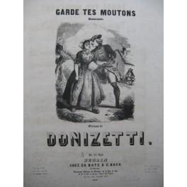 DONIZETTI G. Garde tes moutons Chant Piano ca1853