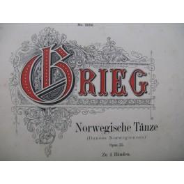GRIEG Edvard Norwegische Tänze op 35 Piano 4 mains