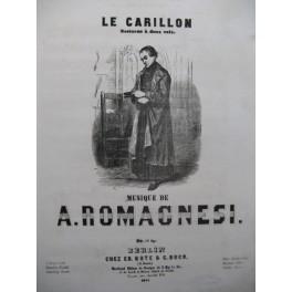 ROMAGNESI Antoine Le Carillon Nocturne Chant Piano ca1855