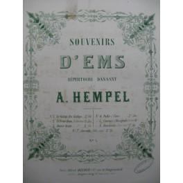 A. HEMPEL Souvenirs d Ems Piano ca1858