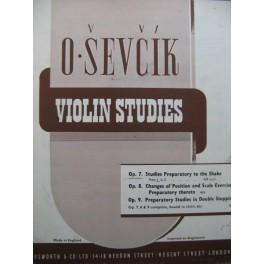 SEVCIK Otakar Studies Preparatory to the Shake op 7 Violon