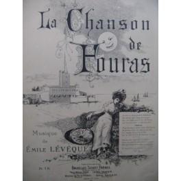 LÉVÊQUE Émile La Chanson de Fouras Chant Piano 1886
