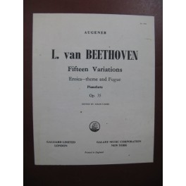 BEETHOVEN Fifteen Variations Eroica Theme and Fugue Piano