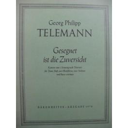 TELEMANN G. P. Gesegnet ist die Zuversicht Chant Orchestre 1978