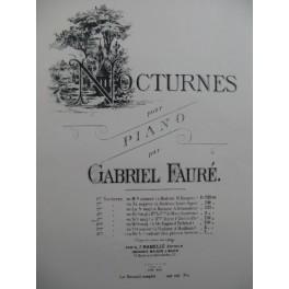 FAURE Gabriel 5me Nocturne en Si majeur Piano