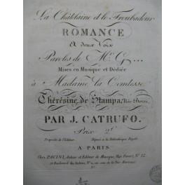 CATRUFO Gioseffo La Châtelaine et le Troubadour Chant Piano ca1820
