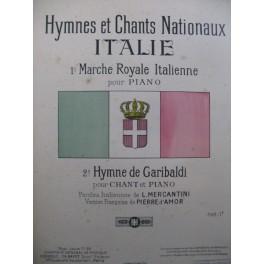 Marche Royale Italienne Piano Hymne de Gariboldi Chant Piano