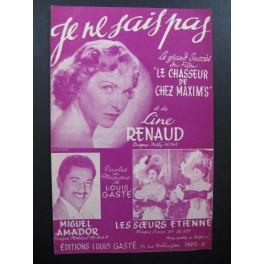 Je ne sais pas Line Renaud Louis Gasté 1953