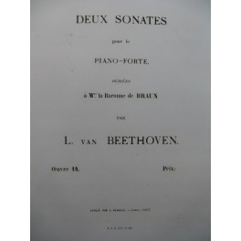 BEETHOVEN Sonate op 14 No 2 Piano 1863