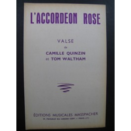 L'Accordéon Rose Valse Quinzin Waltham Accordéon 1961