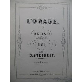 STEIBELT D. L'Orage Piano ca1860
