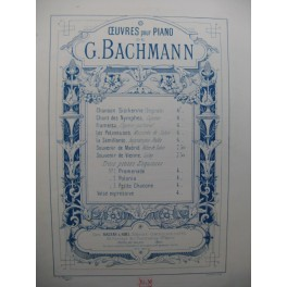 BACHMANN Georges Petite Chaconne Piano 1891