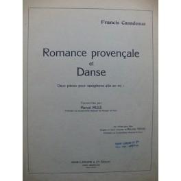 CASADESUS Francis Romance provençale et Danse Piano Saxophone 1947