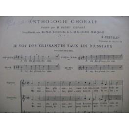 COSTELEY Guillaume Je voy des Glissantes Eaux Renaissance Chant