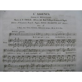 FAVALE P. L'Assenza Chant Piano ca1840