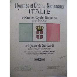 Marche Royale Italienne Piano Hymne de Gariboldi Piano Chant