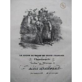 DE BEAUPLAN Amédée La Leçon de Valse Chant Piano ca1830