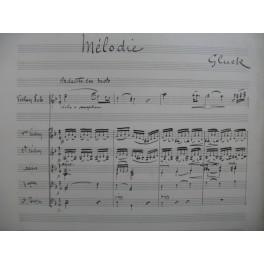 GLUCK C. W. Mélodie Manuscrit Violon Alto Violoncelle Contrebasse
