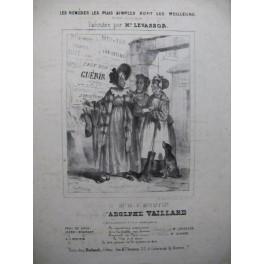 VAILLARD Adolphe Les Remèdes les plus simples Chant Piano ca1840
