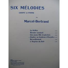 BERTRAND Marcel Orphée au tombeau d'Eurydice Chant Piano