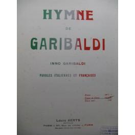 GARIBALDI Inno Hymne de Garibaldi Piano Chant