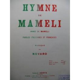 DI MAMELI Inno Hymne de Mameli Piano Chant